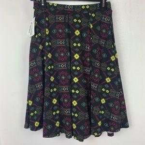 LuLaRoe Skirts - Lularoe Madison Skirt Small Black Pink Geometric